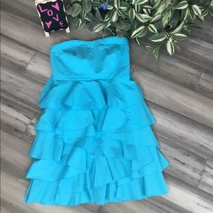 New York And CO Strapless Dress Size 6 Blue